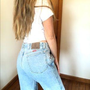Vintage Wrangler Light Wash Mom Jeans High Waist